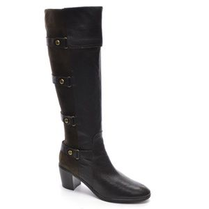 Circa Joan & David Morte Buckle Knee Boots 7.5 M